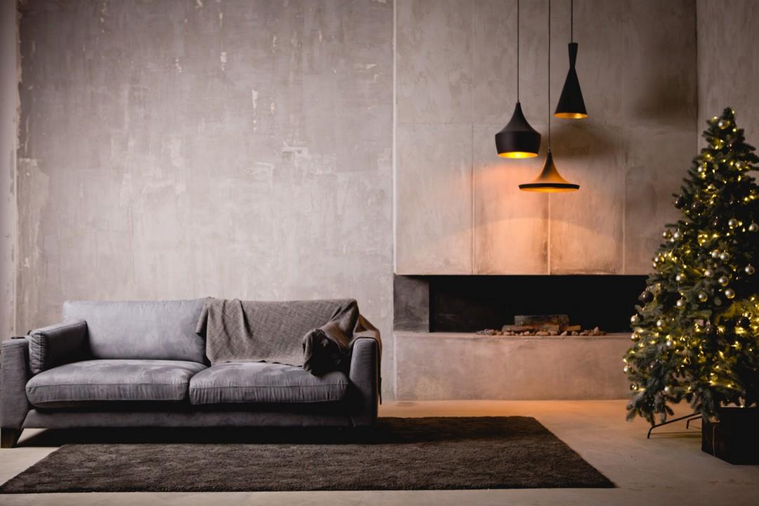 la chemin e en b ton chemin. Black Bedroom Furniture Sets. Home Design Ideas